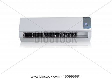 Air conditioner split type embed on isolation white background.