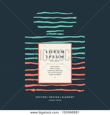 Perfume bottle. Elements for design cards poster