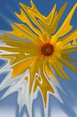 Abstract sunflower in the sky poster