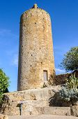 Romanesque tower in the village of Pals in Catalonia Spain poster