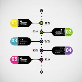 Infographic design template and marketing icons Business concept options.
