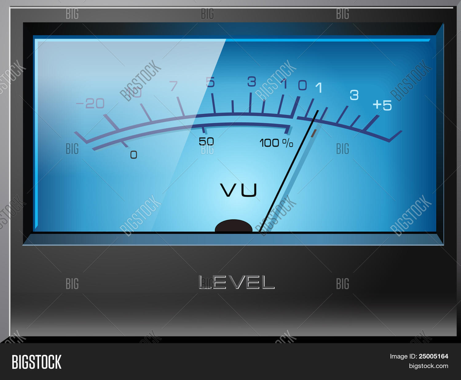 Analog Vu Meter Blue Vector Photo Free Trial Bigstock 3 Detailed