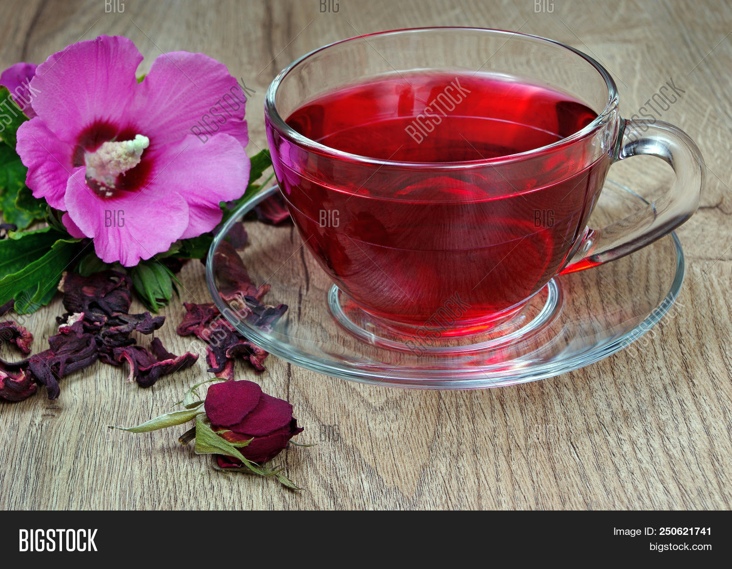 Hibiscus Tea Glass Cup Image Photo Free Trial Bigstock