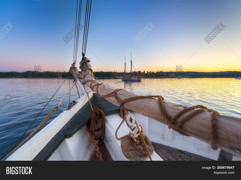 Sailboats Sunrise Image Photo Free Trial Bigstock