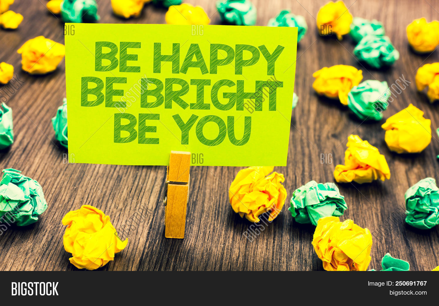 fef76487e2a Handwriting text Be Happy Be Bright Be You. Concept meaning Self-confidence  good attitude enjoy cheerful Paperclip retain written words yellow paper  paper ...