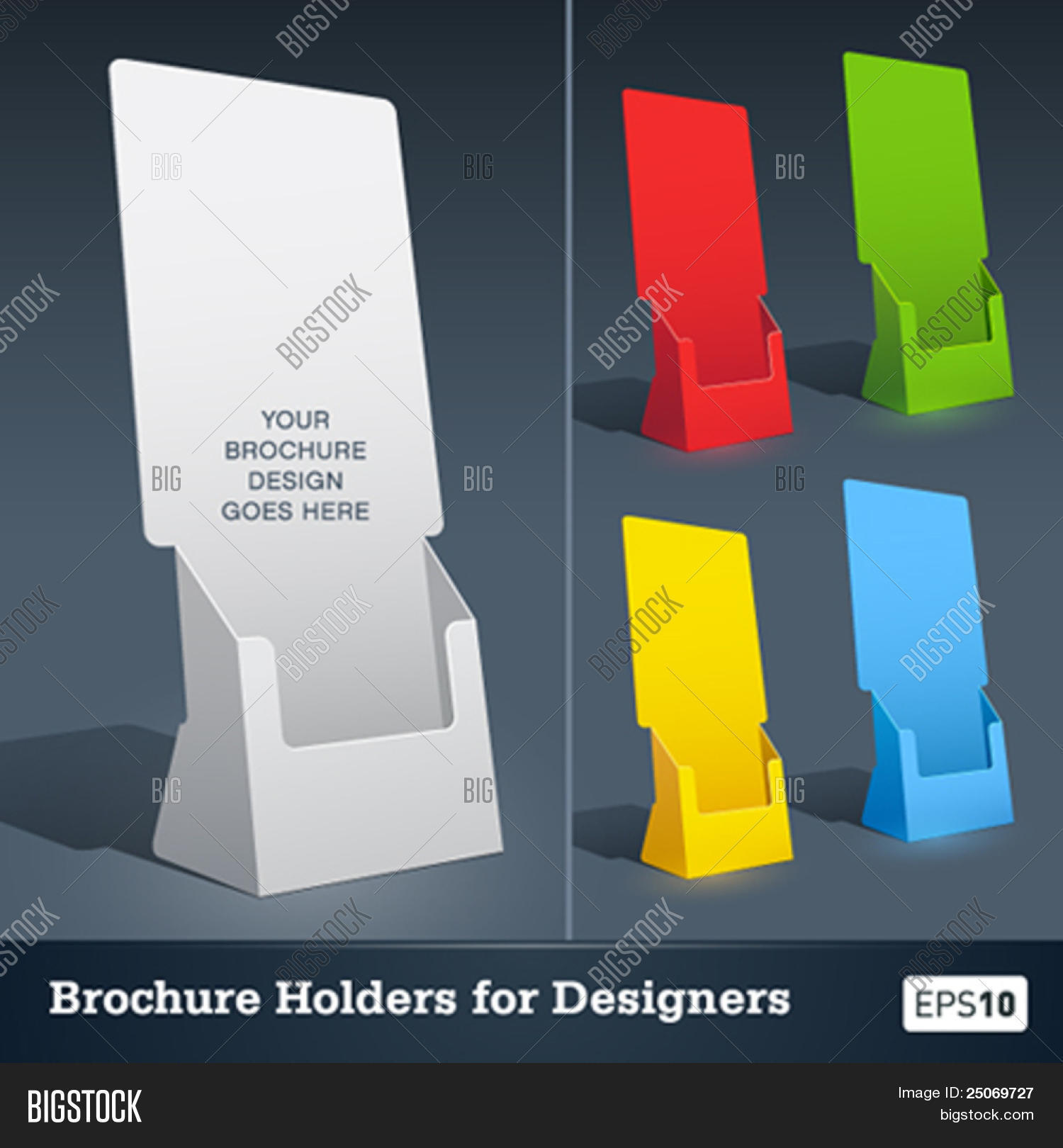 blank brochure holder template for designers