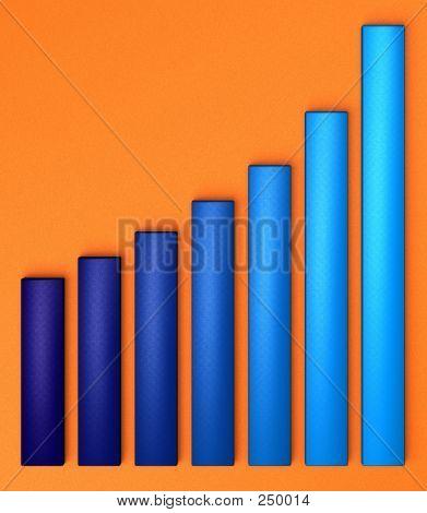 Blue Chart On Orange