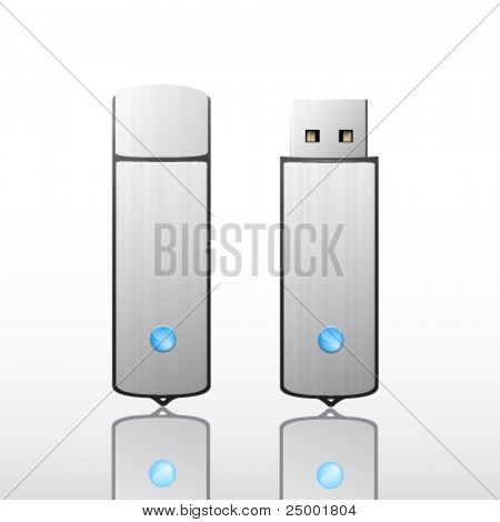 Vector flash drive illustration