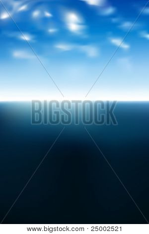 vector sea and clouds
