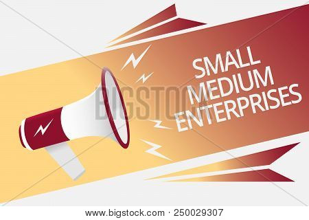 Conceptual Hand Writing Showing Small Medium Enterprises. Business Photo Text Companies With Less Th