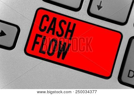Text Sign Showing Cash Flow. Conceptual Photo Movement Of The Money In And Out Affecting The Liquidi