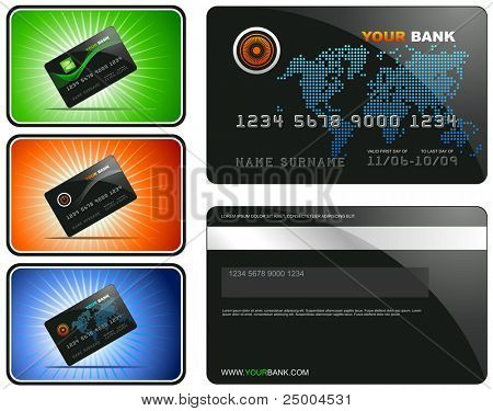 Credit Card with sample designs