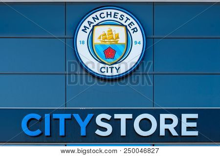 Manchester, United Kingdom - May 19 2018: Manchester City Football Club Founded In 1880 In Mancheste