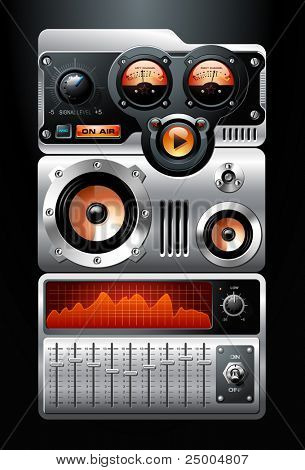 Orange Analog MP3 Player