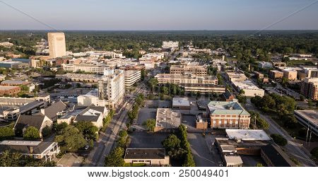 The Roads And Buildings Are Seen From This Aerial View Of Spartanburg Sc