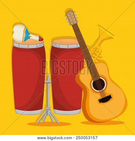Set Musical Instruments Icons Vector Illustration Design
