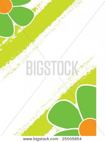 Abstract floral design. Vector.