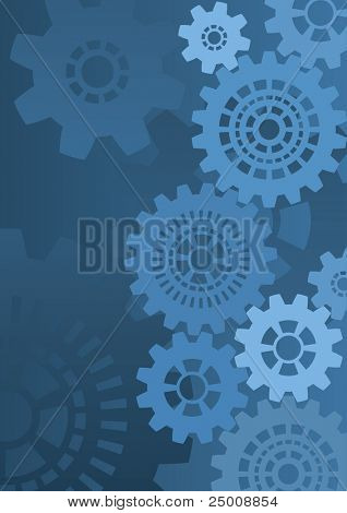 Industrial background. Vector.