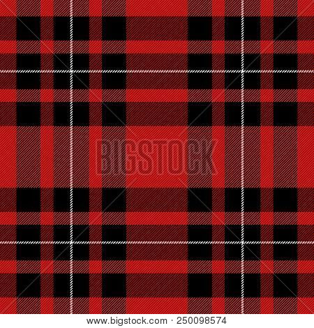 Tartan Pattern. Scottish Cage. Scottish Red Checkered Background. Scottish Plaid In Red And Black Co