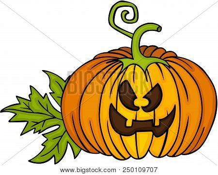 Scalable Vectorial Image Representing A Happy Halloween Pumpkin, Element For Design, Illustration Is