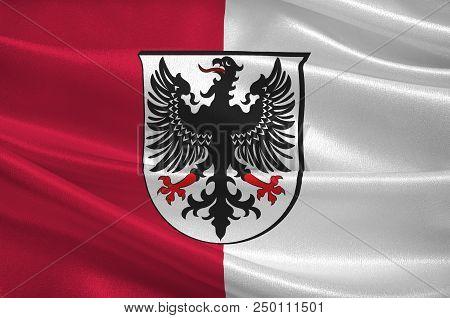 Flag Of Ingelheim Am Rhein Is A Town In The Mainz-bingen District In Rhineland-palatinate, Germany.