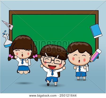 Happy Students Back To School Happy Students Kids Back To School Education
