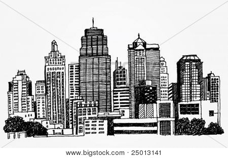 Just a Sketch of a Big City