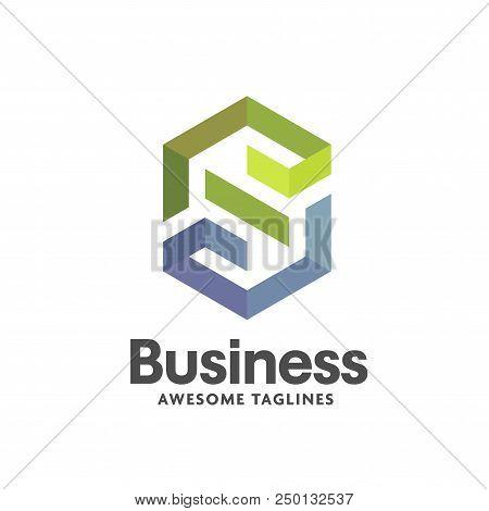 Letter S Geometric Logo Vector, Creative Modern And Simple Letter S Logo , Modern Letter S It Logo,