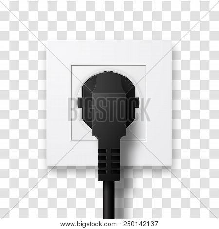Realistic Socket. Vector Illustration Of Power Outlet Vector Illustration