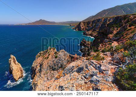 The Planu Sartu (or Pranu Sartu) Mine Is Located On The Calcareous Plateau West Of Buggerru Near The