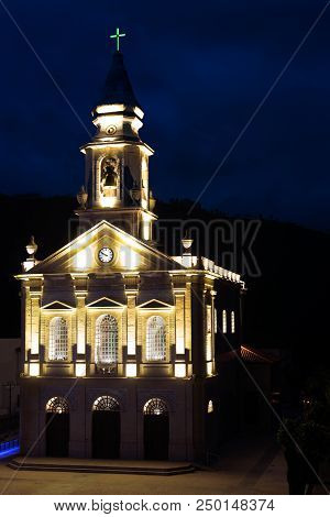 Santuario (chirch) De S. Bento Da Porta Aberta Portugal Geres Summer Night Light