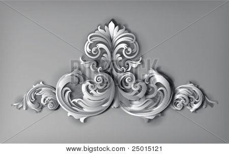 3d flourishes - vector illustration