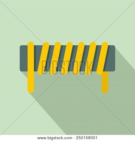 Induction Spring Coil Icon. Flat Illustration Of Induction Spring Coil Vector Icon For Web Design