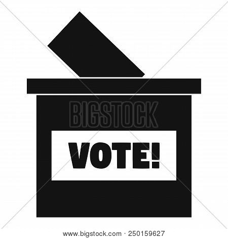 Wood Vote Box Icon. Simple Illustration Of Wood Vote Box Vector Icon For Web Design Isolated On Whit