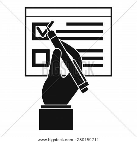 Vote Sign Paper Icon. Simple Illustration Of Vote Sign Paper Vector Icon For Web Design Isolated On