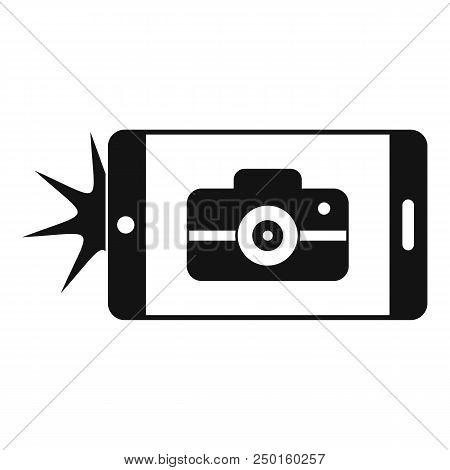 Smartphone Take Photo Icon. Simple Illustration Of Smartphone Take Photo Vector Icon For Web Design