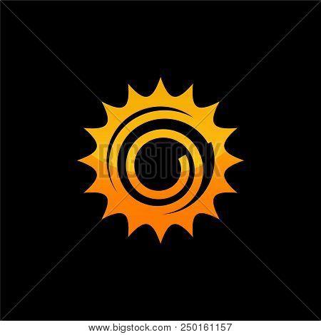 Sun Vector Isolated Summer Icon Design. Vector Yellow Sun Symbol. Vector Sun Sun Element. Sun Weathe
