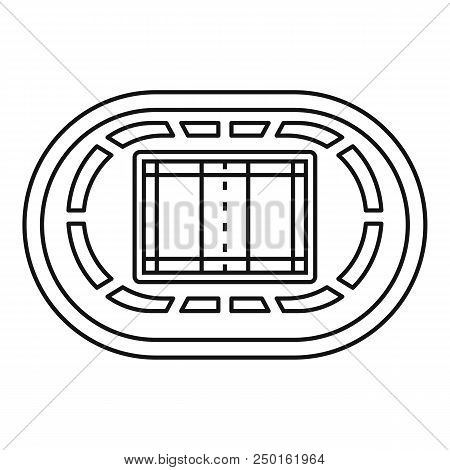 Top Volleyball Arena Icon. Outline Top Volleyball Arena Vector Icon For Web Design Isolated On White