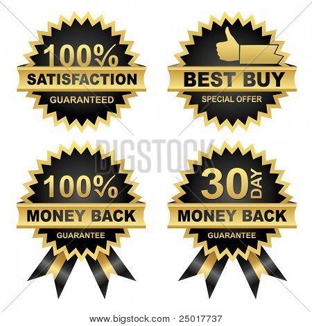 Vector Set of Seals - Eps8.  Vector Money Back -Satisfaction - Best Buy...