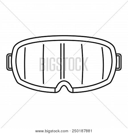 Under Water Glass Mask Icon. Outline Under Water Glass Mask Vector Icon For Web Design Isolated On W