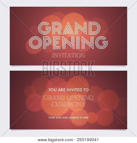 Grand Opening Banner Vector Photo Free Trial Bigstock