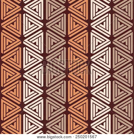 Scalable Vectorial Representing A Seamless Triangle Pattern Background, Element For Your Design.