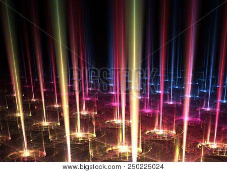 Rays Of Light - Beam Fractal Art