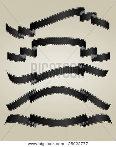 film strip banners - unexposed- vector