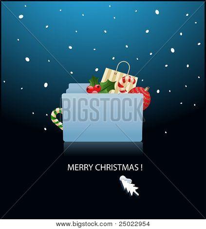 ready for christmas- mac OS X folder  - vector