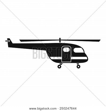Rescue Helicopter Icon. Simple Illustration Of Rescue Helicopter Vector Icon For Web Design Isolated