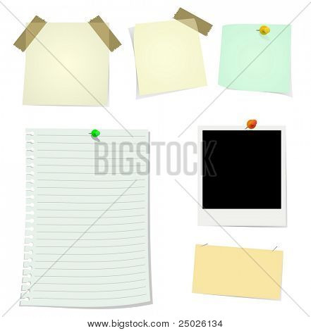 Notes & Stickers (Check out my portfolio for vector file)