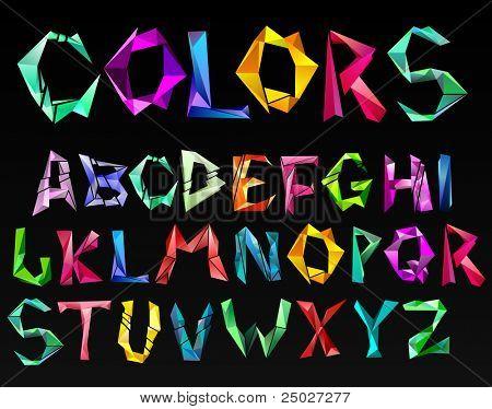 crystal color alphabet. See more in my portfolio