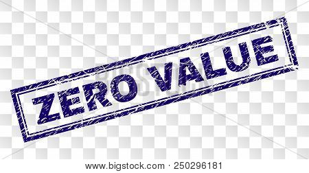Zero Value Stamp Seal Watermark With Rubber Print Style And Double Framed Rectangle Shape. Stamp Is
