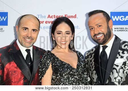 LOS ANGELES - JUN 11: David Paul, Gabrielle Ruiz, Nick Verreos at The Actors Fund's 22nd Annual Tony Awards Viewing Party at the Skirball Cultural Center on June 10, 2018 in Los Angeles, CA
